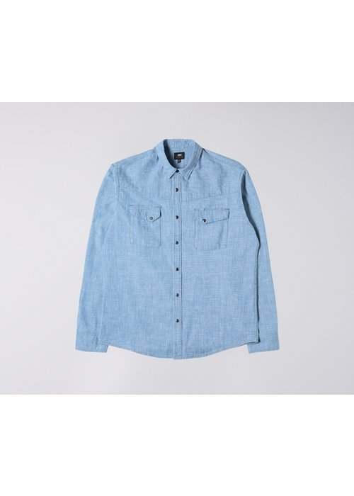 Edwin Jeans Pinecone Chambray Shirt Naples Blue