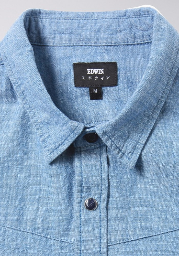 Pinecone Chambray Shirt Naples Blue