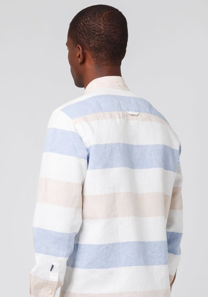 Button Down Shirt White Blue Stripes