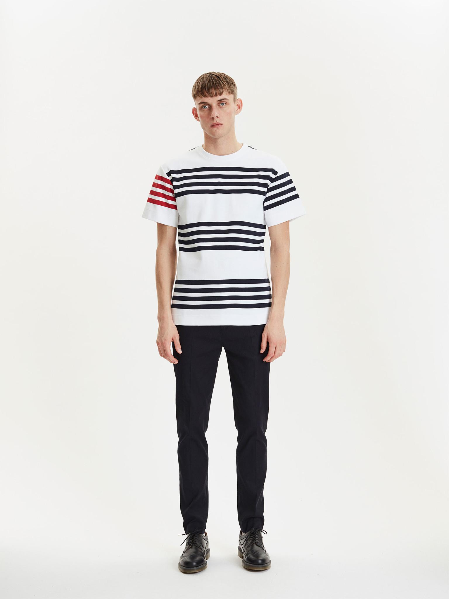 Cooper White Navy Stripes-1