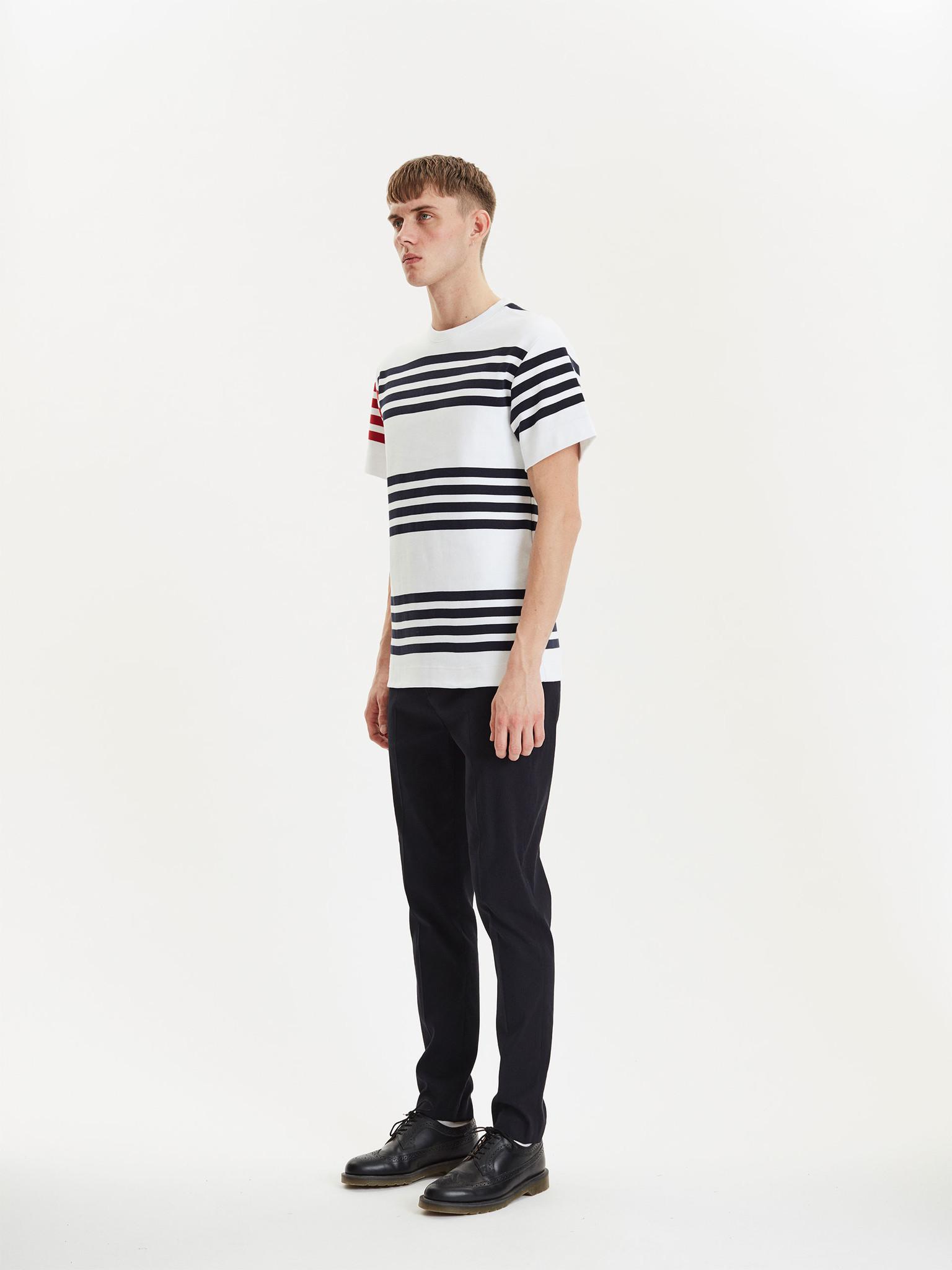 Cooper White Navy Stripes-2