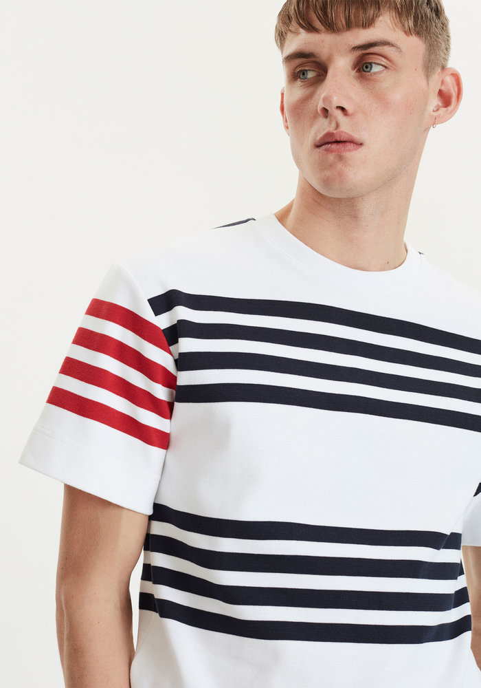 Cooper White Navy Stripes