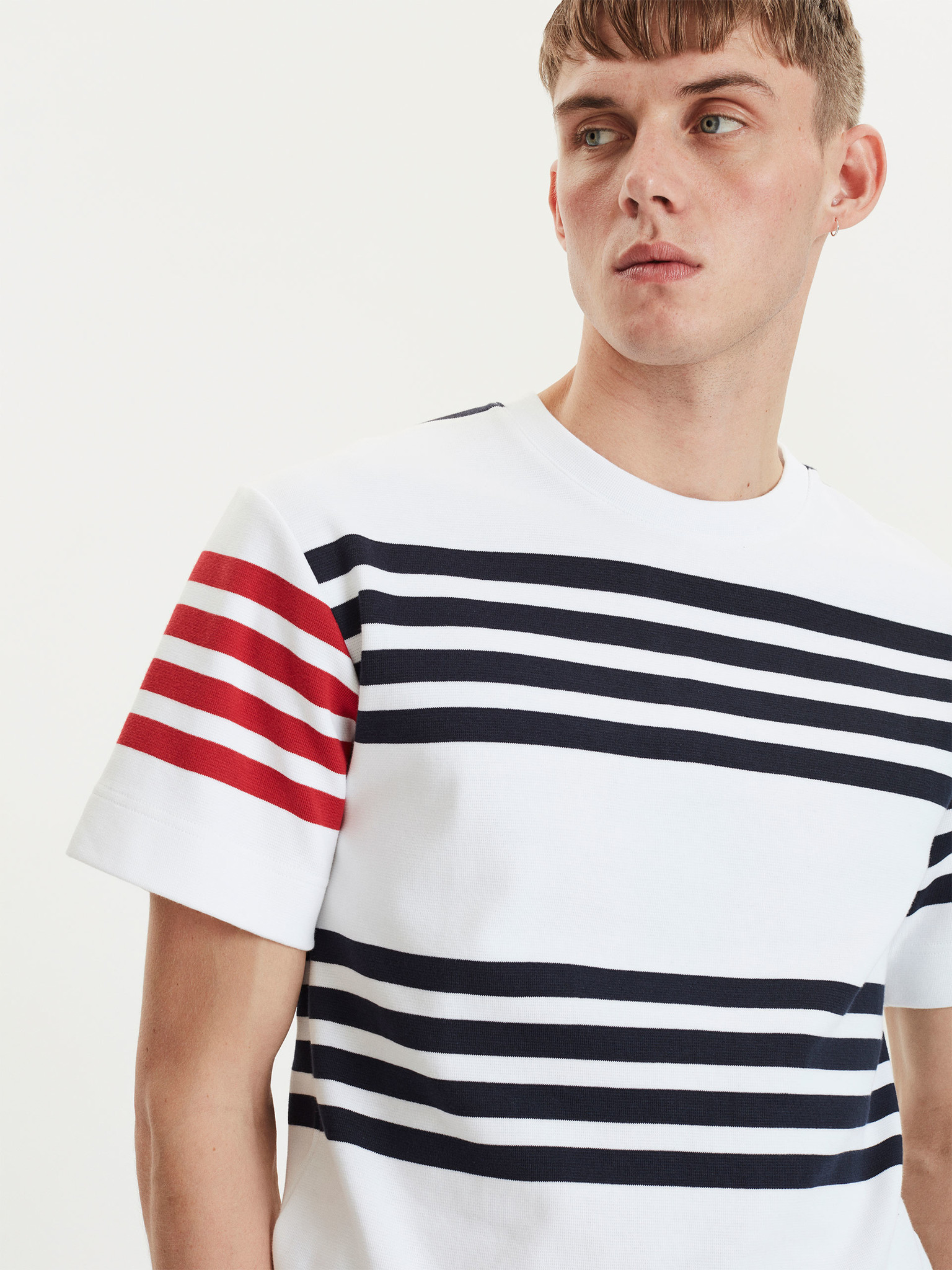 Cooper White Navy Stripes-4