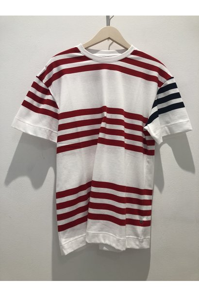 Cooper White Red Stripes