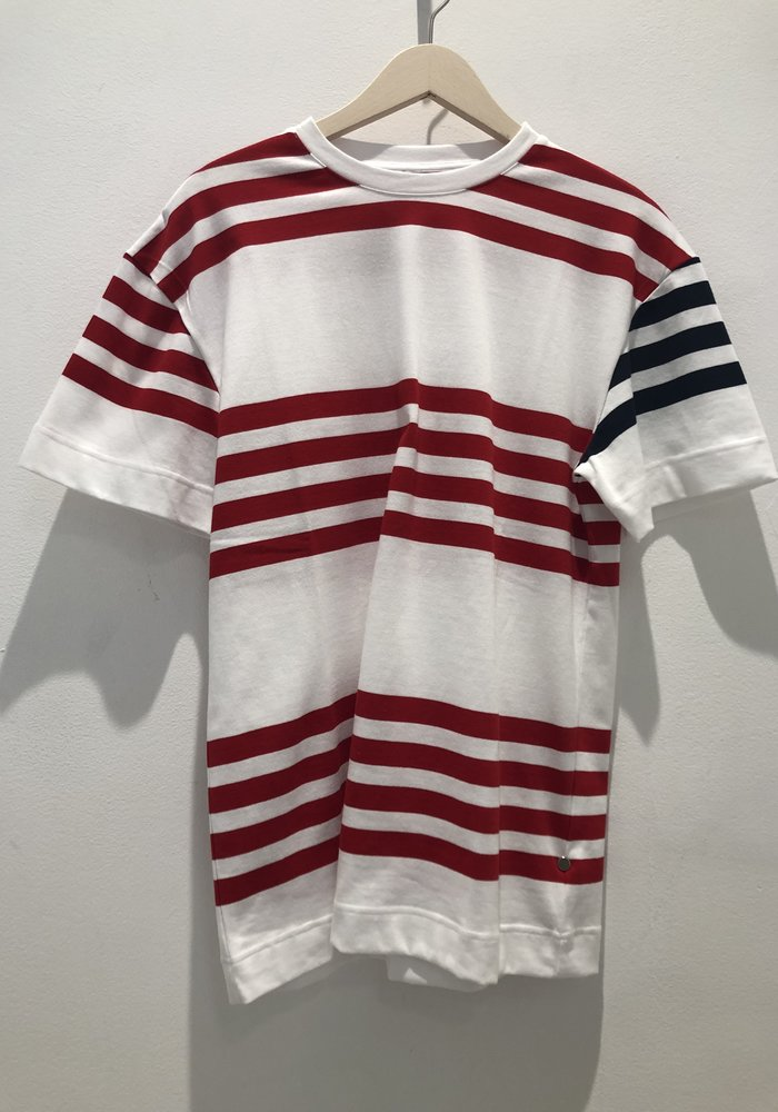 Cooper White Red Stripes