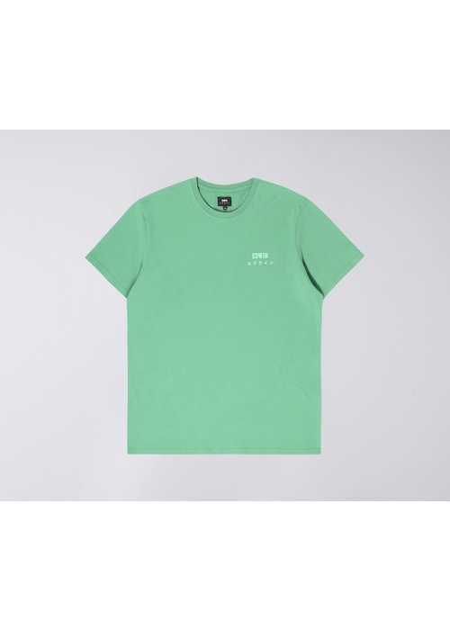 Edwin Jeans Logo Chest T-Shirt Frosty Green