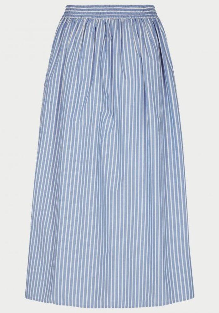 Ara HW Blue Striped Skirt