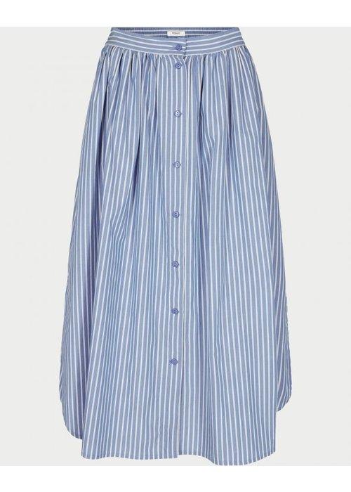 Moss Copenhagen Ara HW Blue Striped Skirt