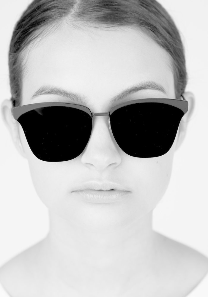 Alena Classic Frame Black Polarized Sunglasses