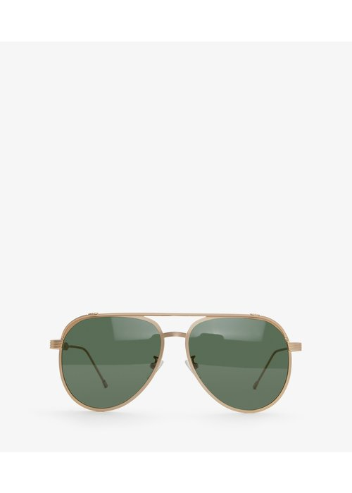 Matt & Nat Miguel Gold Framed Sunglasses Green Polarized Lenses