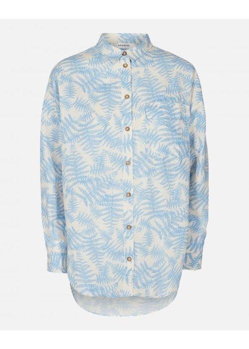 Moss Copenhagen Gro Shirt Blue Flower Print