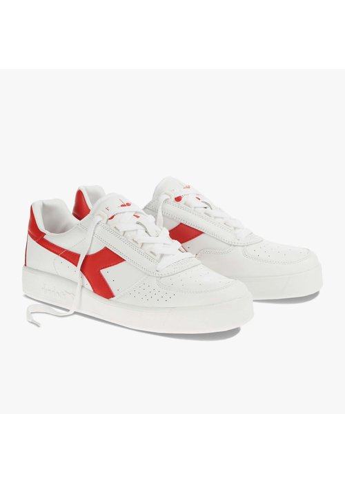 Diadora Elite B White Ferrari Red