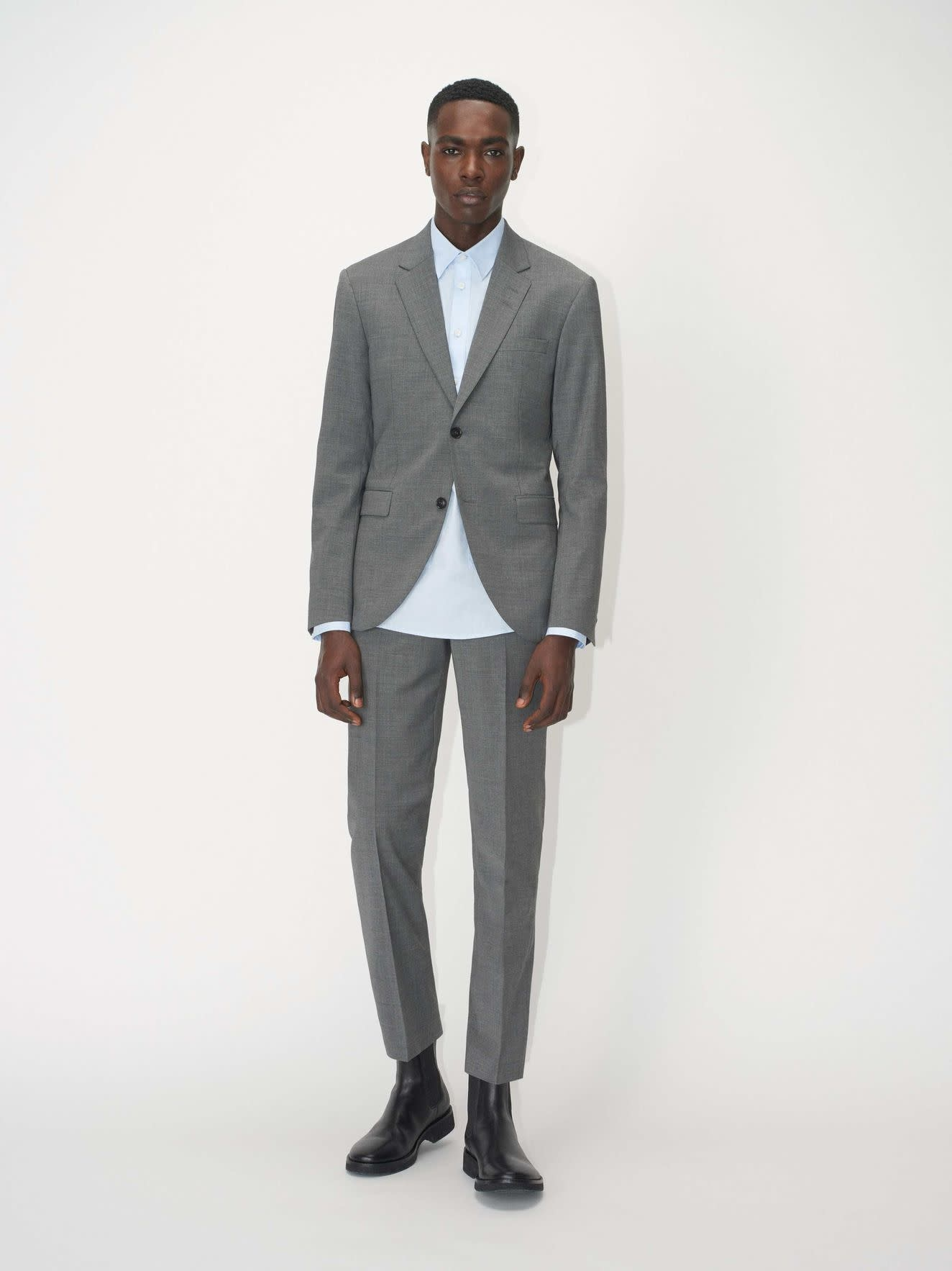 Tordon Suit Pants Light Grey-2