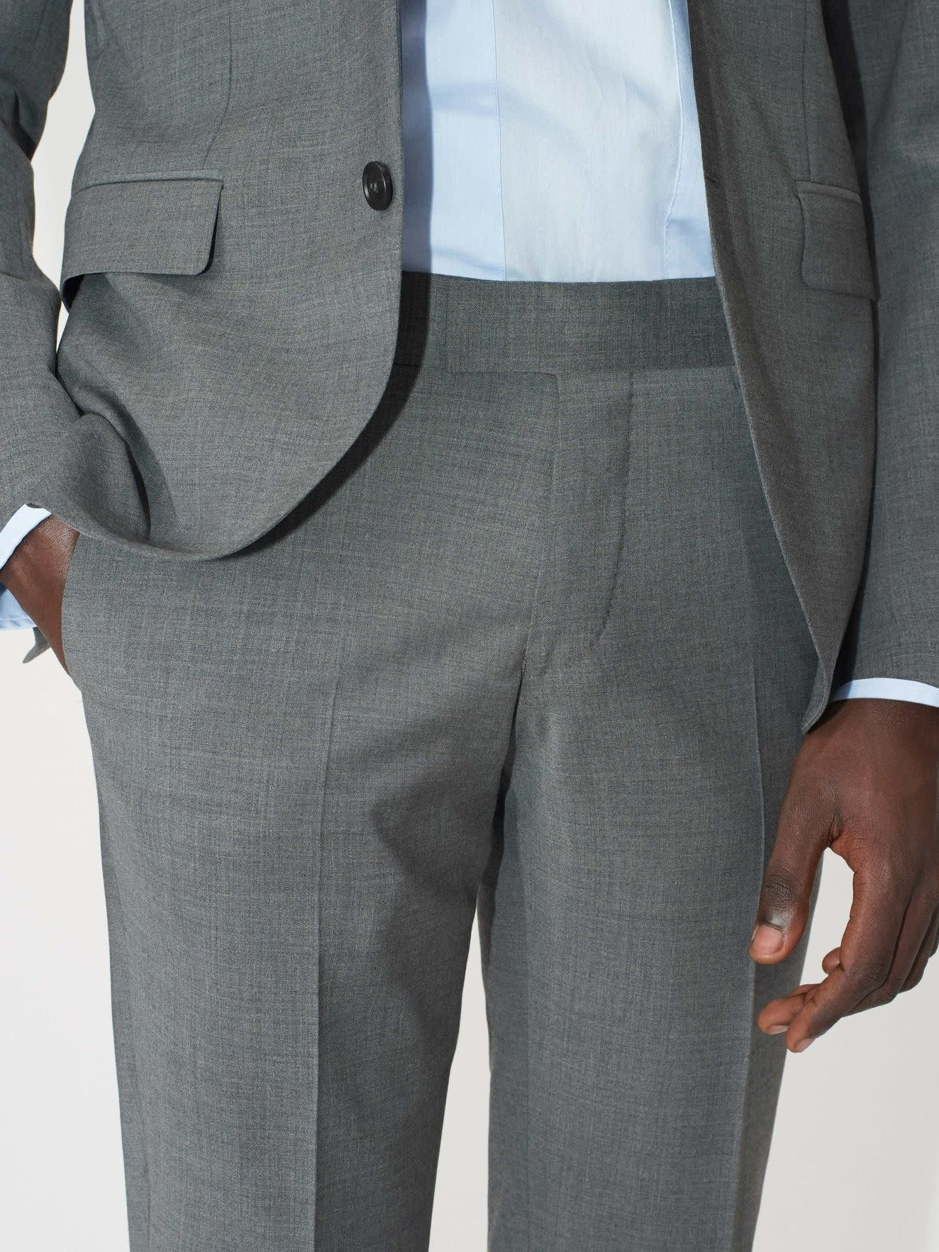 Tordon Suit Pants Light Grey-5