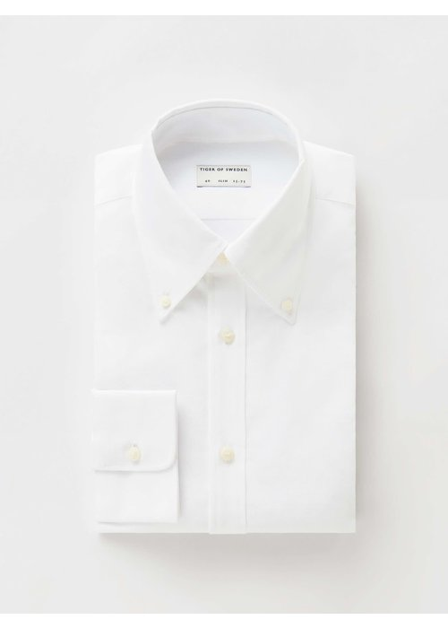 Tiger Of Sweden Fablo Button Down Cotton Shirt White