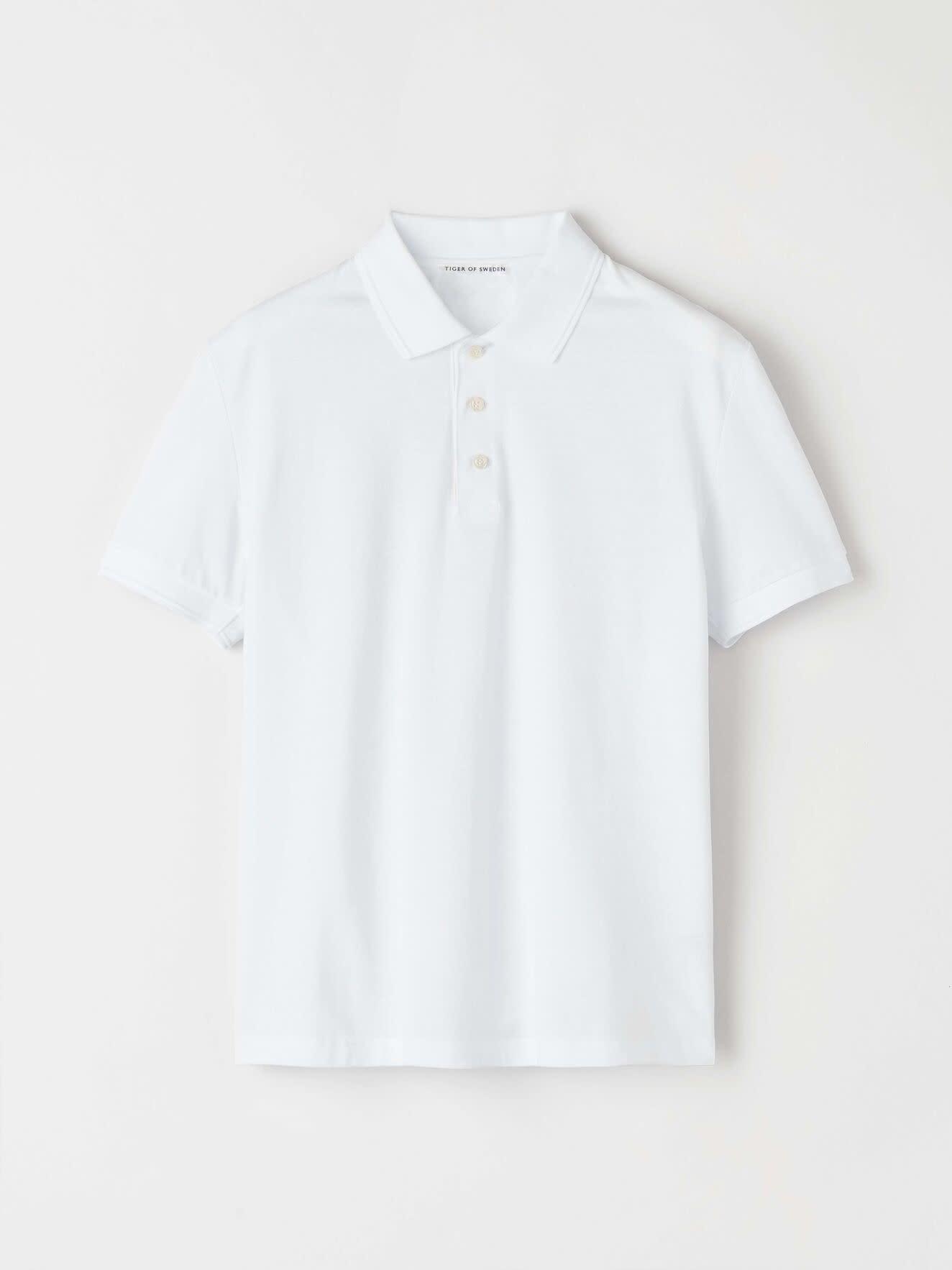 Darios White Jersey Flat Collar Polo-1