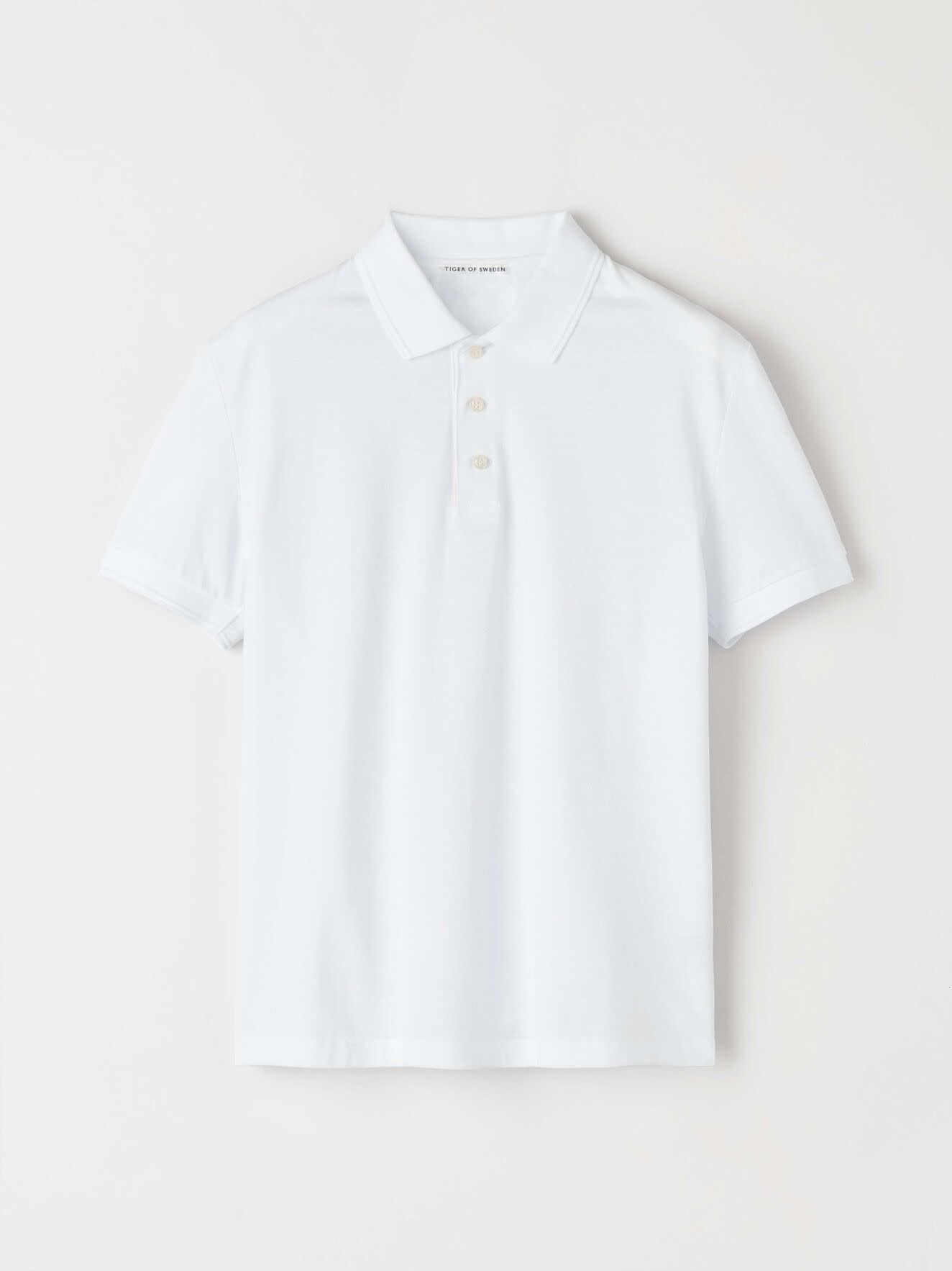 Darios witte jersey polo met platte kraag-1