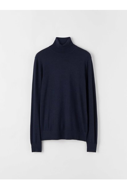 Nevile Navy Pullover Turtle Neck Wool