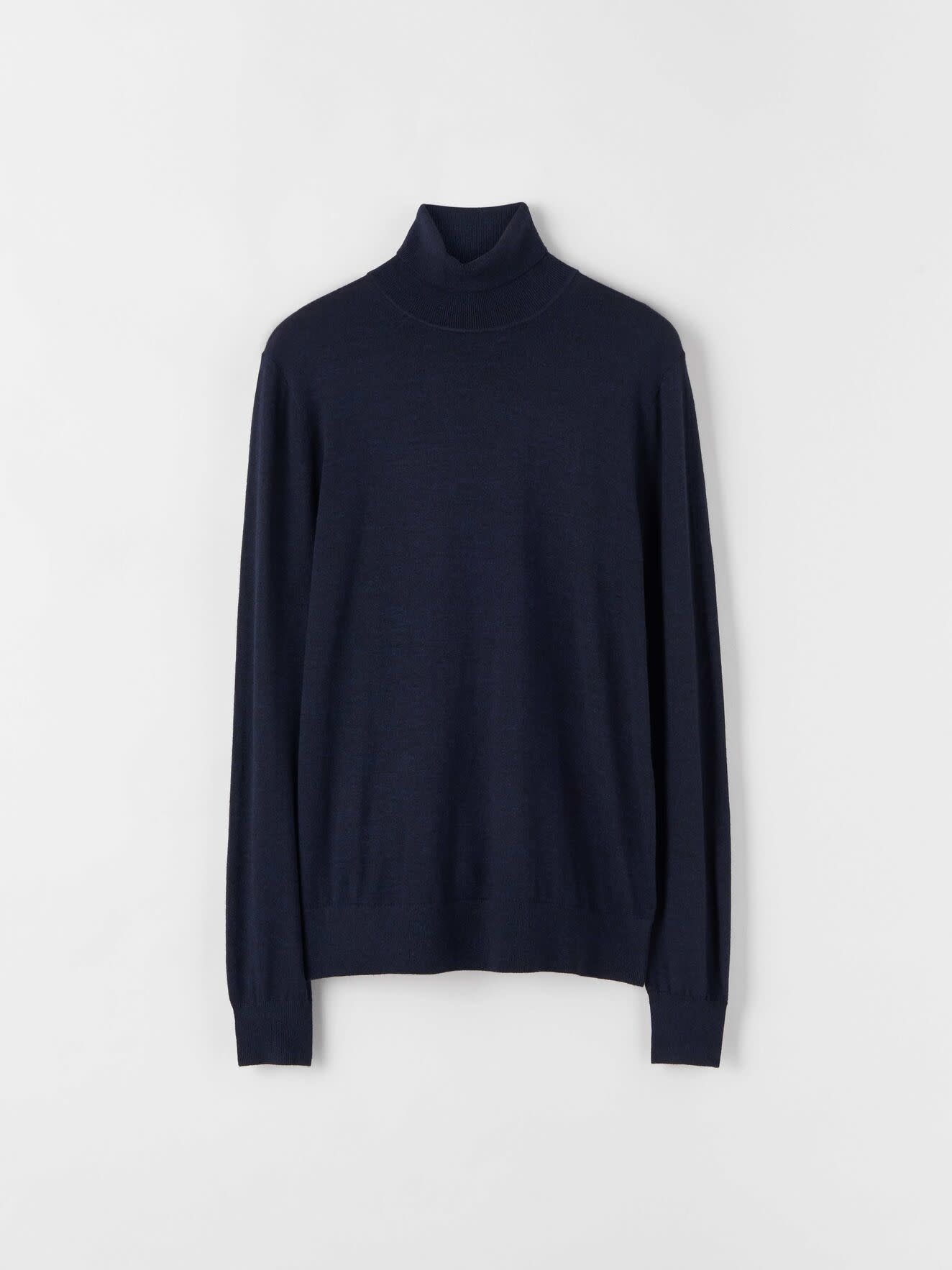 Nevile Navy Pullover Turtle Neck Wool-1