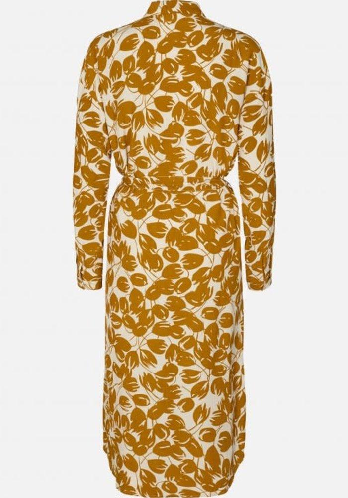 Reign Morocco Dress Shirt Ecru Flowers