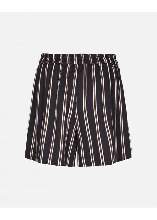 Moss Copenhagen Elin Striped Shorts Black
