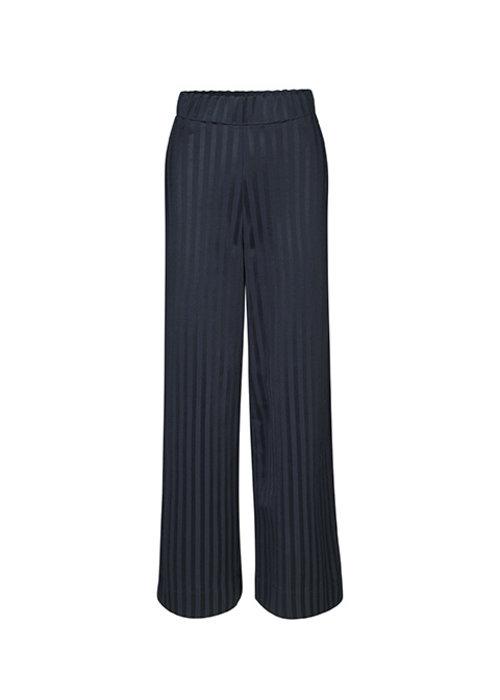 Libertine Libertine Read Anything Navy Stripe Trouser