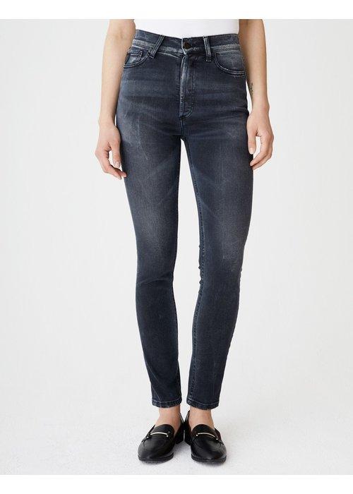 Lois Jeans Reslim Super High Slim Straight Blackstone