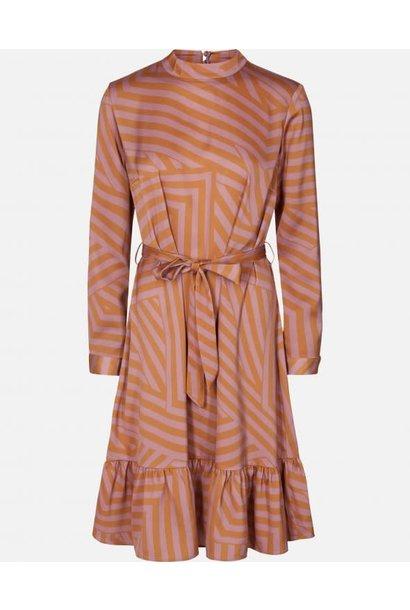 Tessa Pink Stripe Dress Aop