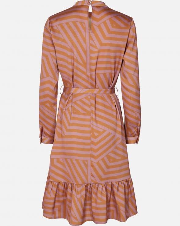 Tessa Pink Stripe Dress Aop-2