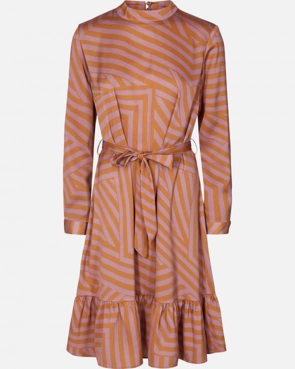 Tessa Pink Stripe Dress Aop-5