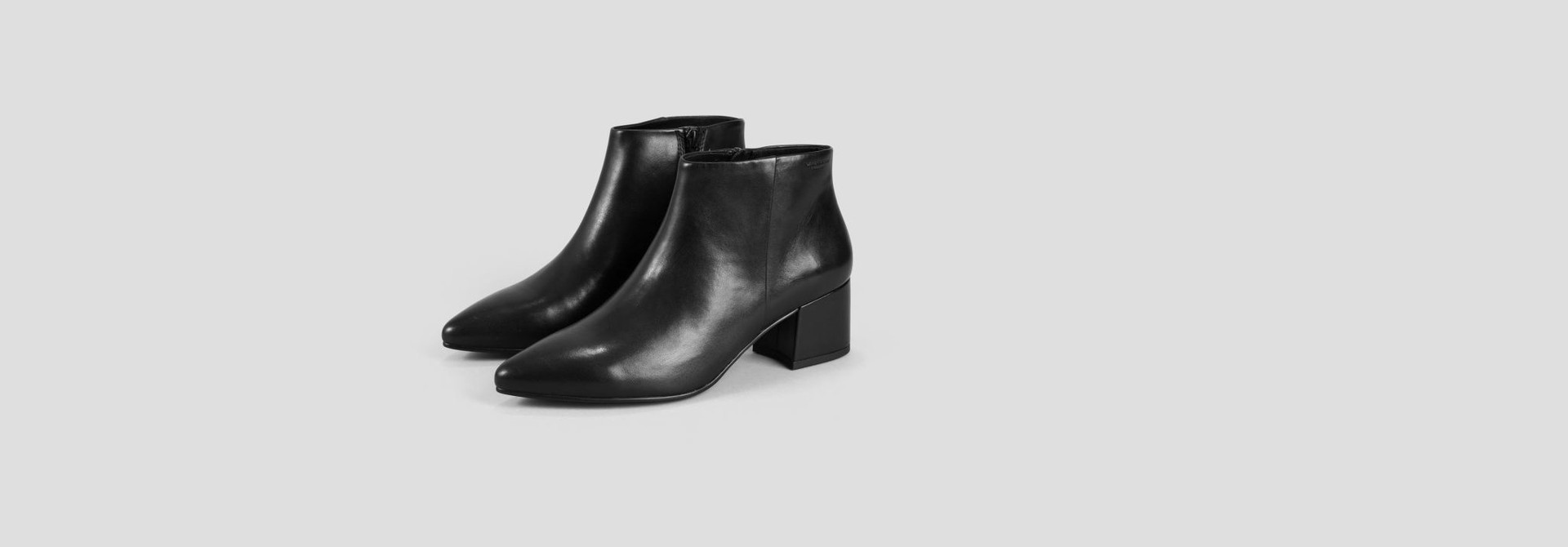 Mya Half High Black Leather Boots