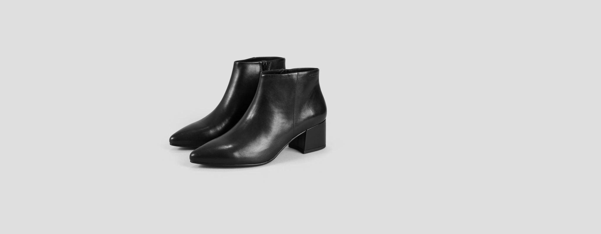 Mya Half High Black Leather Boots-1