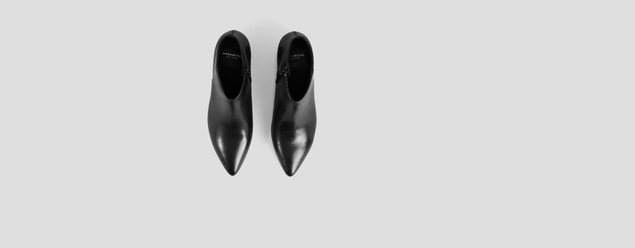 Mya Half High Black Leather Boots-2