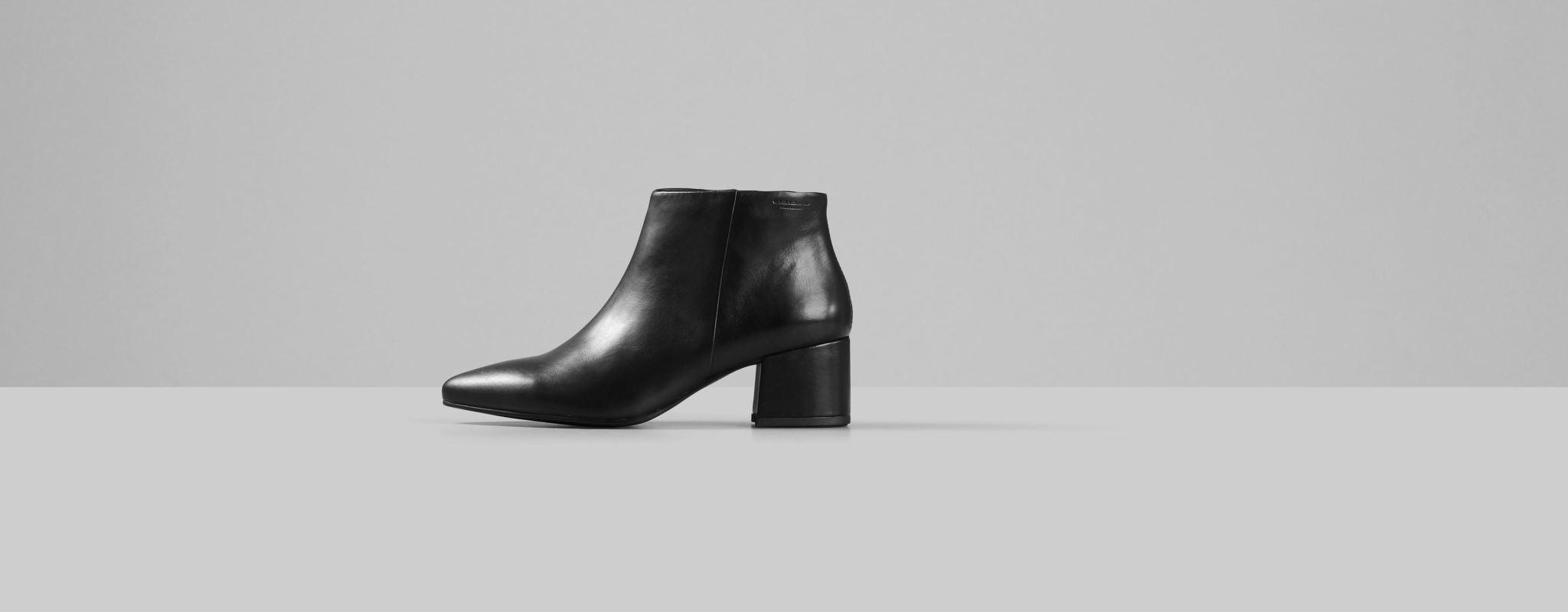 Mya Half High Black Leather Boots-3