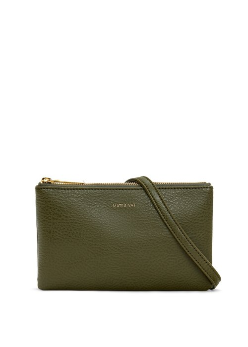 Matt & Nat Triplet Crossbody Bag Pine Green