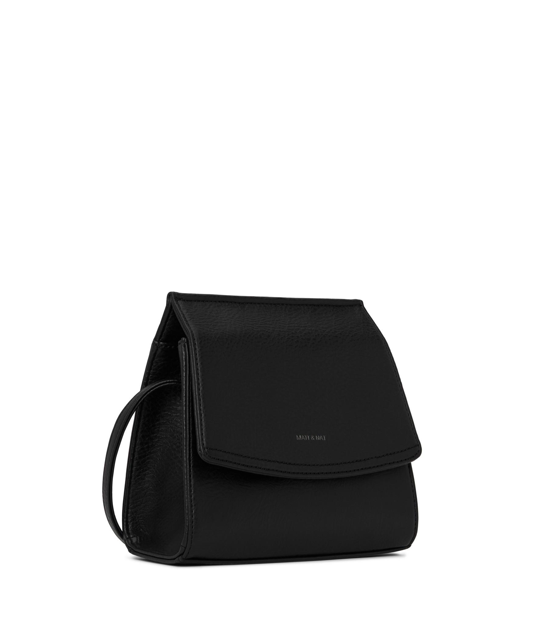 Erika Crosbody Black Vegan Leather-2