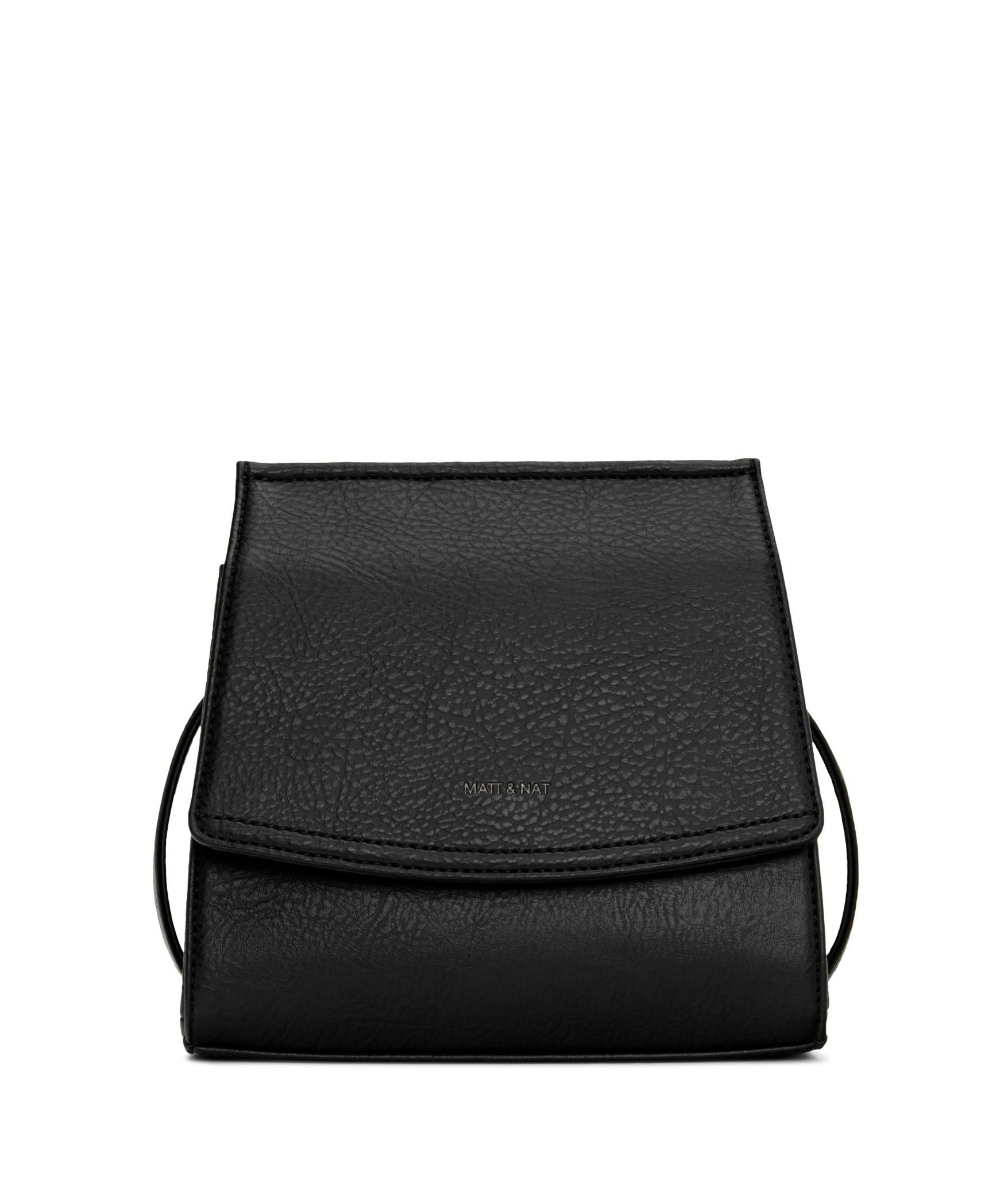 Erika Crosbody Black Vegan Leather-1