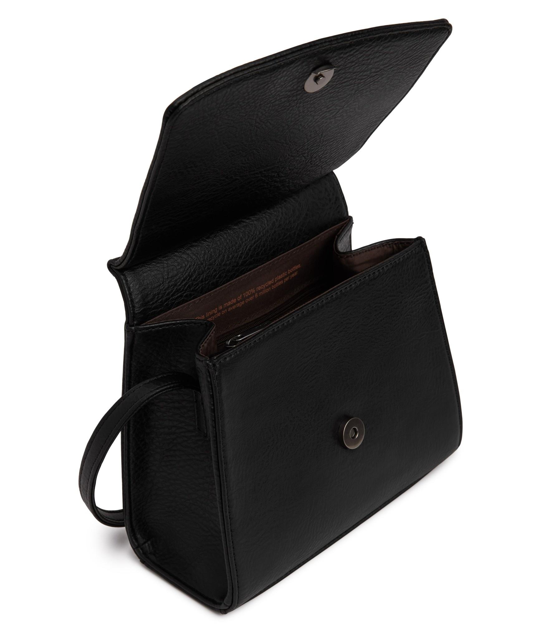 Erika Crosbody Black Vegan Leather-4