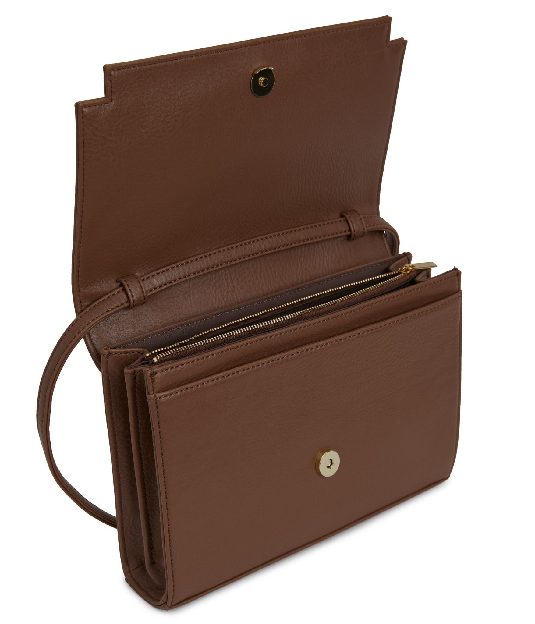 Silvi Vegan Crosbody Bag Brown-3
