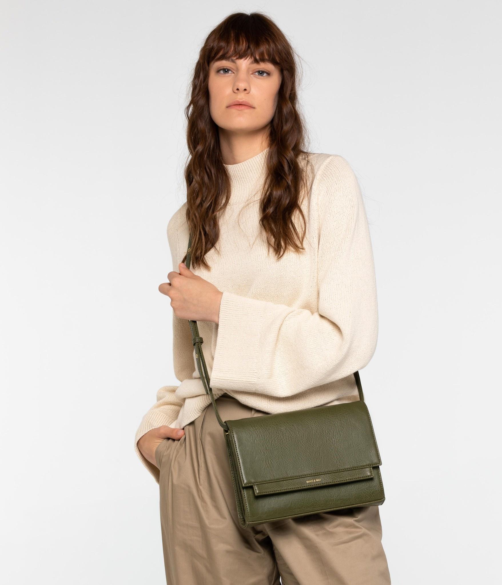 Silvi Vegan Crosbody Bag Brown-2