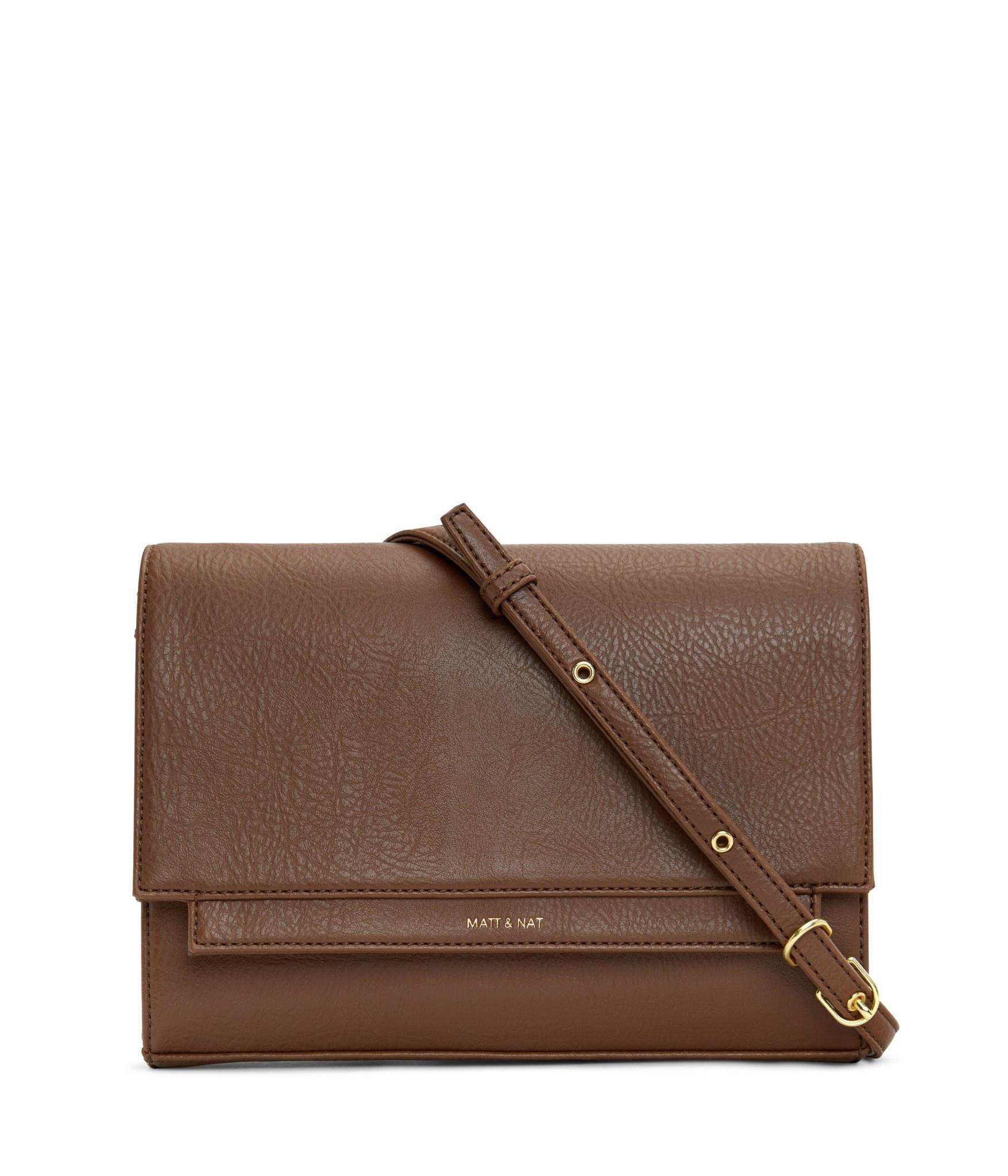 Silvi Vegan Crosbody Bag Brown-5