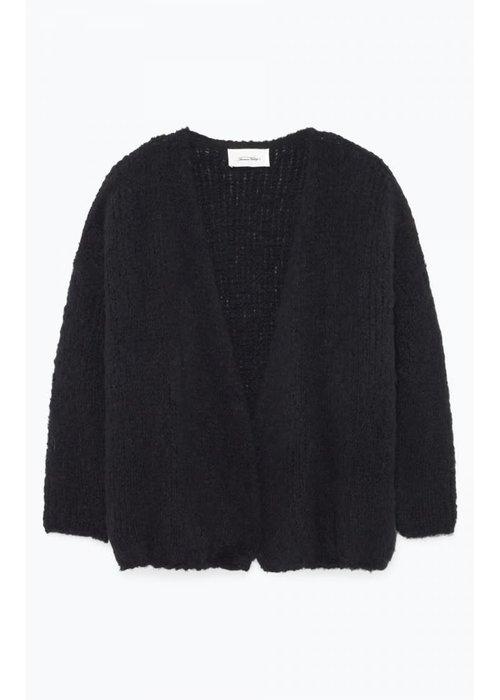 American Vintage Boolder Knitted Vest Black