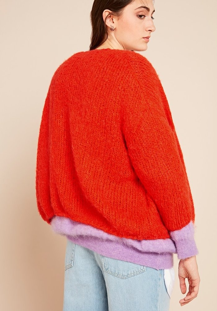 Boolder Knitted Vest Vitamine Red