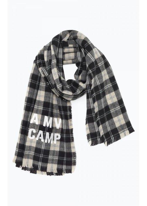American Vintage Gabiland Grey Checker Scarf