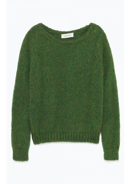 American Vintage Manina Knitwear Spring Melange Green