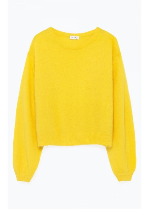 American Vintage Mitibird Cropped Knitwear Mimosa Yellow