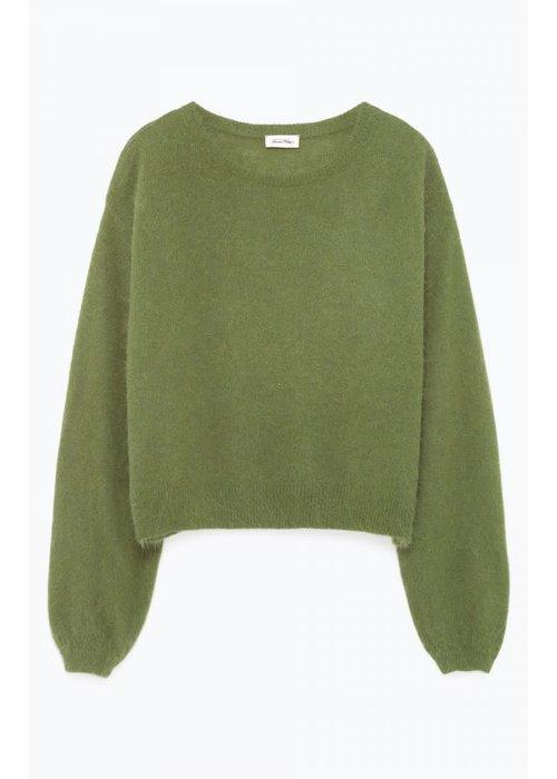 American Vintage Mitibird Cropped Knitwear Marsh Green