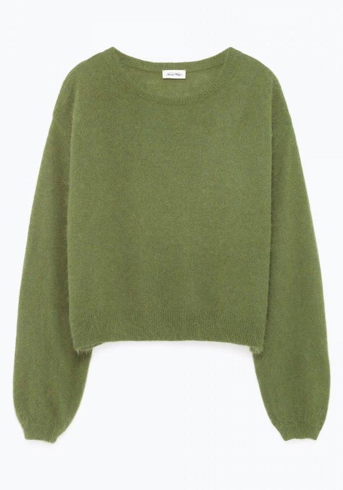 Mitibird Cropped Knitwear Marsh Green
