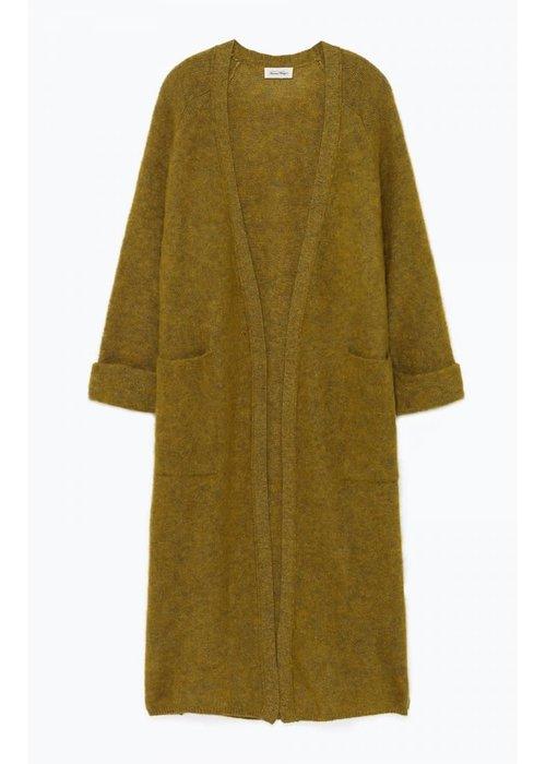 American Vintage Woxilen Cardigan Vest Kiwi Green Melange