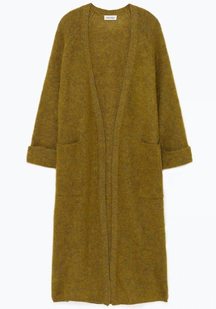 Woxilen Cardigan Vest Kiwi Green Melange